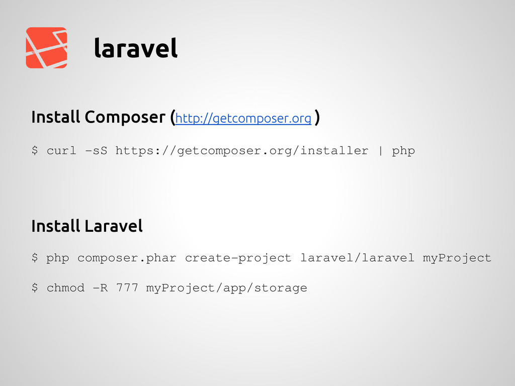 laravel $ curl -sS https://getcomposer.org/inst...