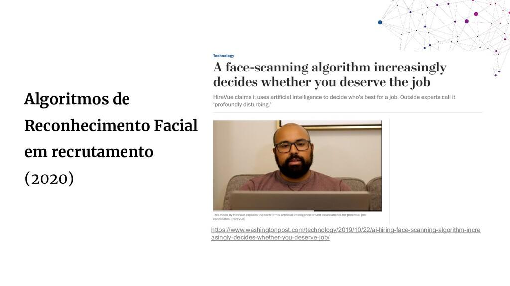 Algoritmos de Reconhecimento Facial em recrutam...