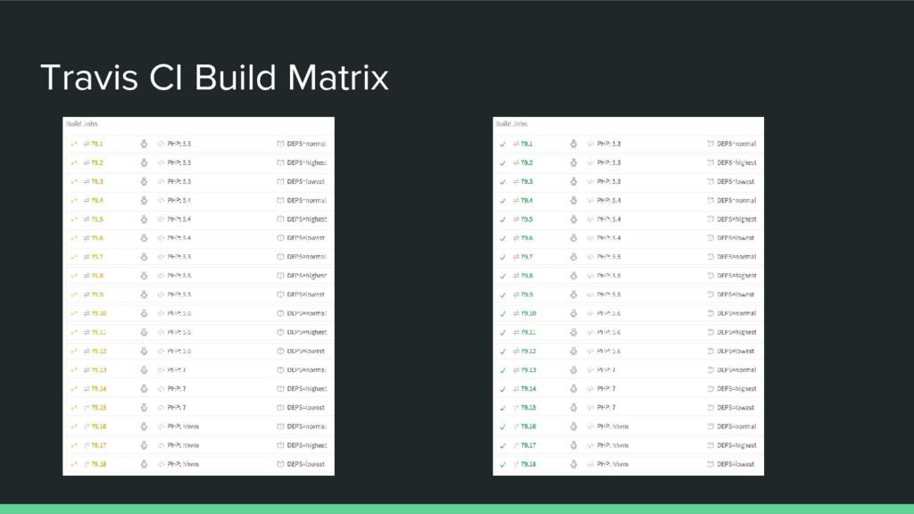 Travis CI Build Matrix