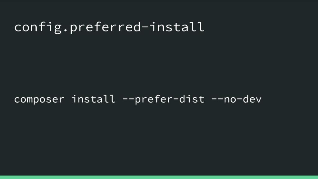composer install --prefer-dist --no-dev config....