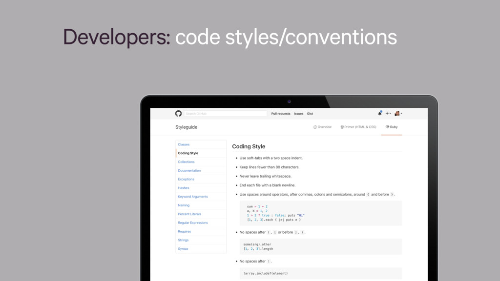 Developers: code styles/conventions