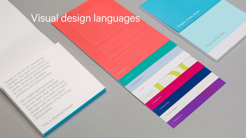Visual design languages