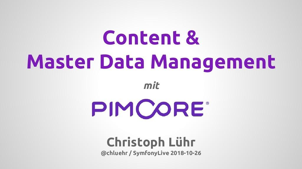 Christoph Lühr @chluehr / SymfonyLive 2018-10-2...