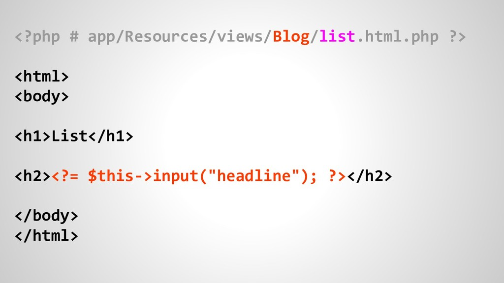 <?php # app/Resources/views/Blog/list.html.php ...