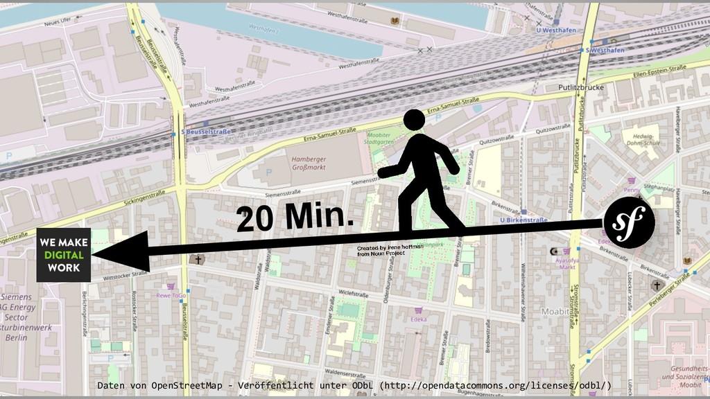 20 Min. Daten von OpenStreetMap - Veröffentlich...