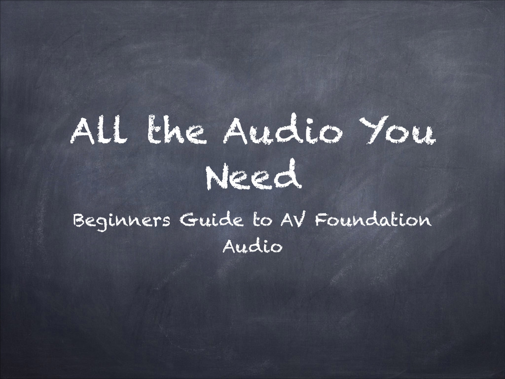 All the Audio You Need Beginners Guide to AV Fo...