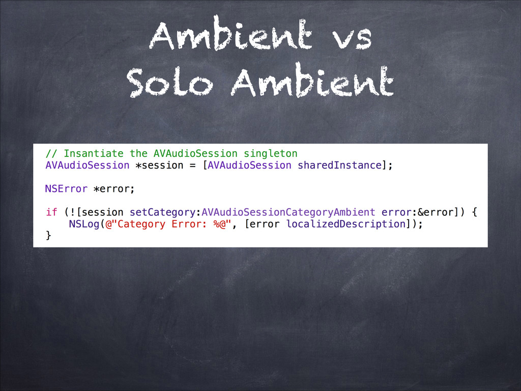 Ambient vs Solo Ambient