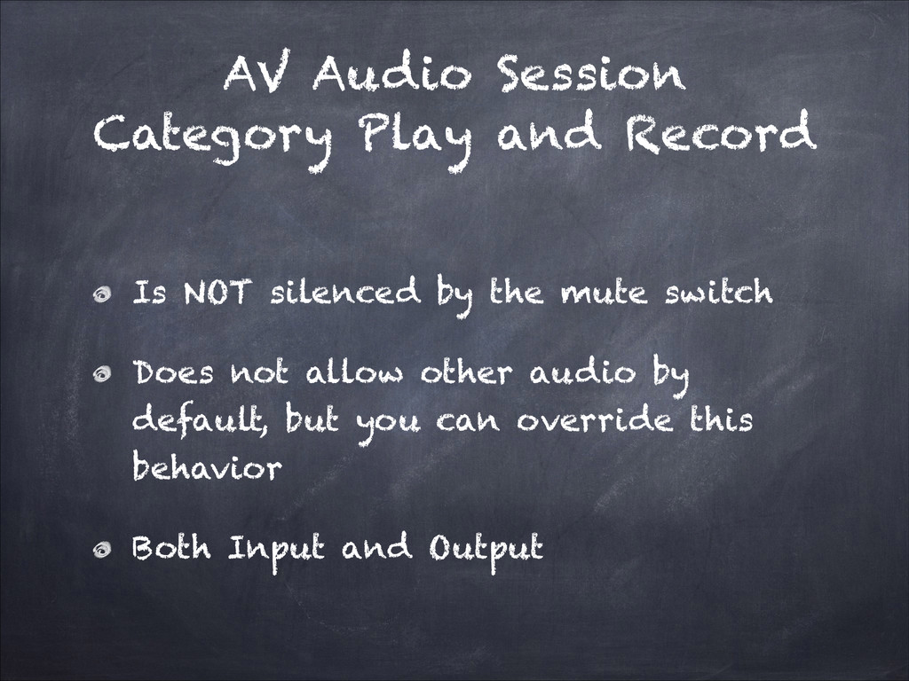 AV Audio Session Category Play and Record Is NO...