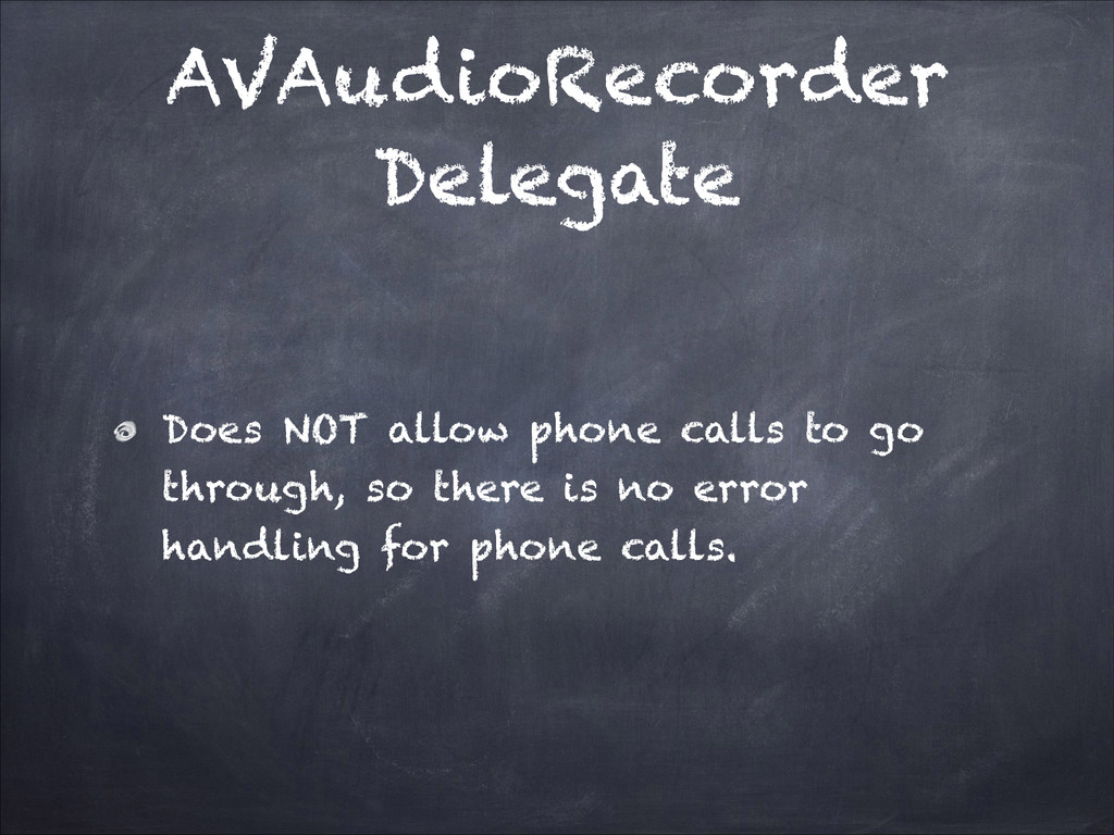 AVAudioRecorder Delegate Does NOT allow phone c...
