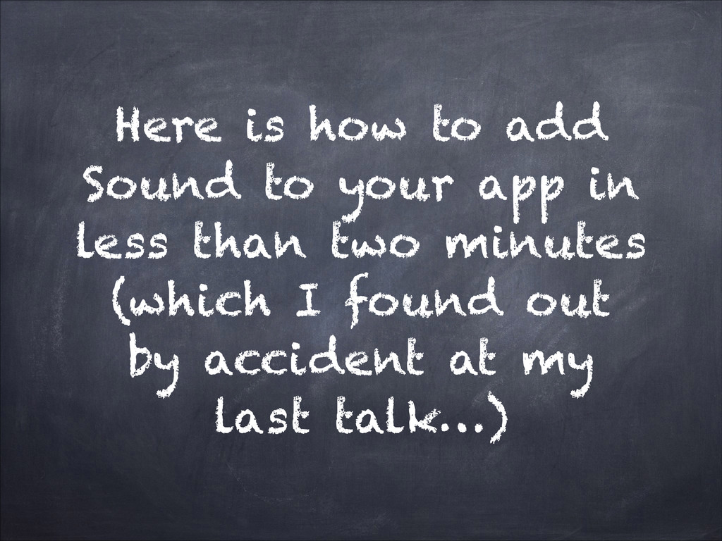 Here is how to add Sound to your app in less th...