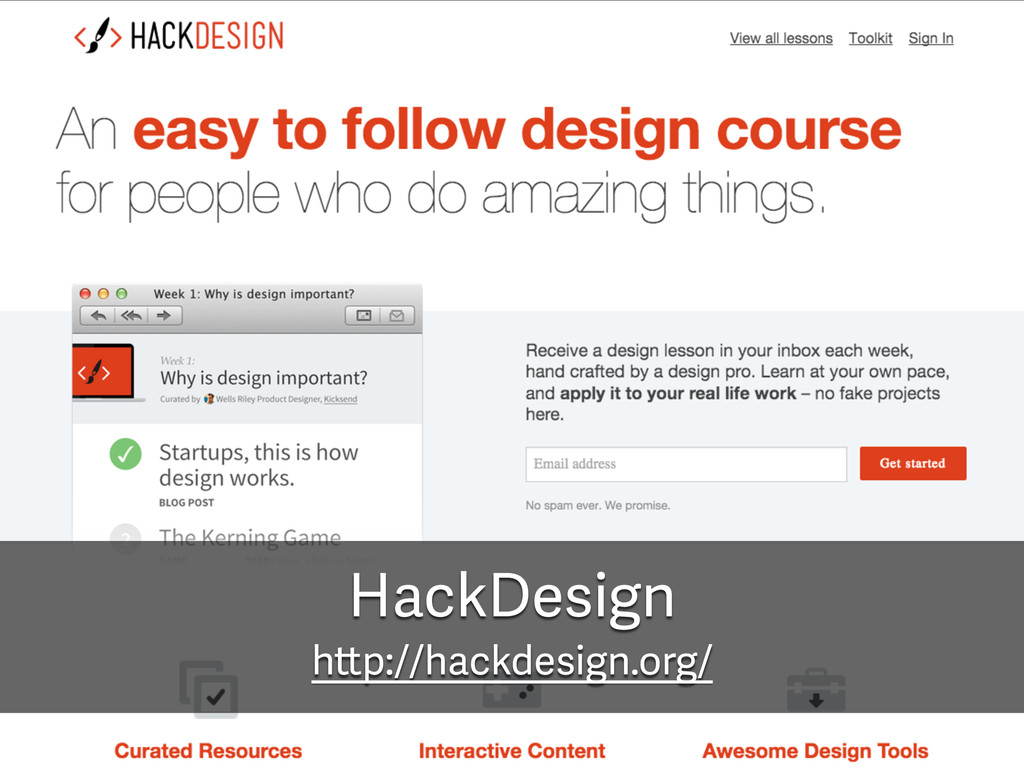 HackDesign http://hackdesign.org/