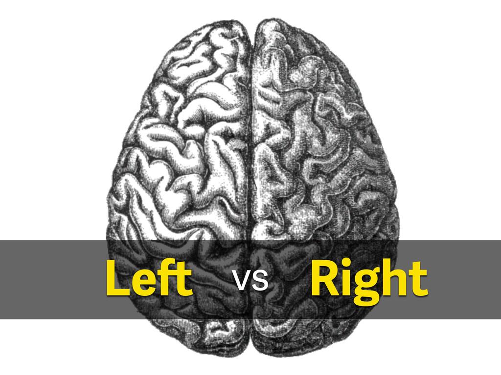 Left Right vs