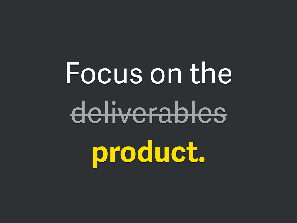 Focus on the