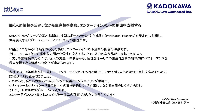 """© KADOKAWA Connected Inc.  ձࣾ֓ཁ ձ໊ࣾ גࣜձࣾ ,""""%0,..."""