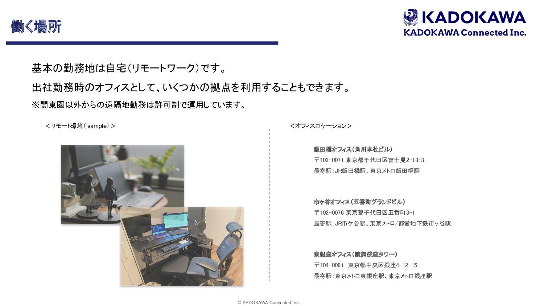© KADOKAWA Connected Inc. 22 ςϨϫʔΫͷऔΓΈ ࣾͰɺࣗ...