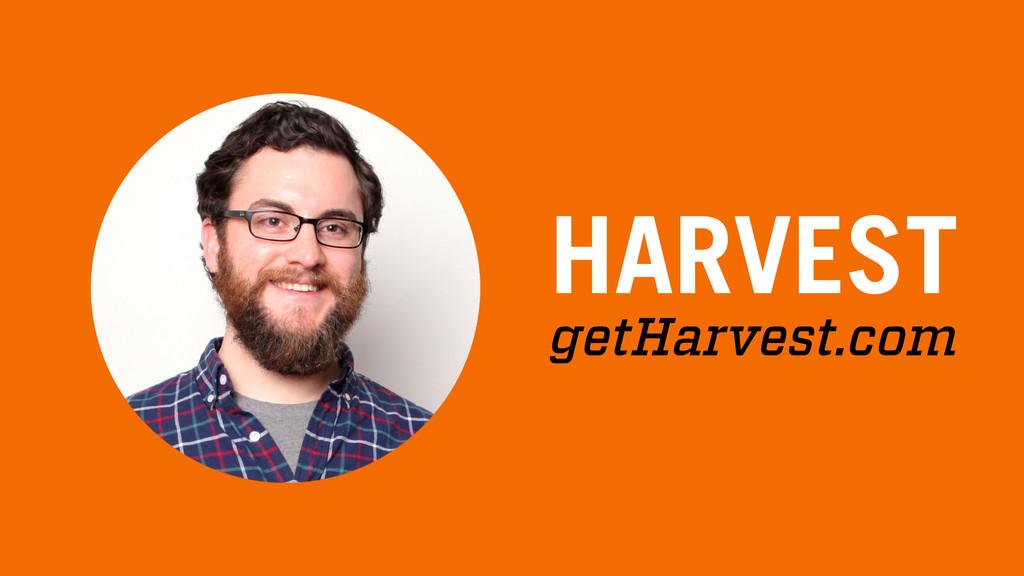 HARVEST getHarvest.com