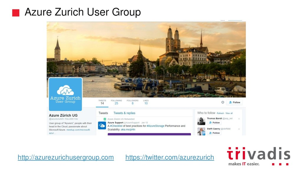 Azure Zurich User Group http://azurezurichuserg...