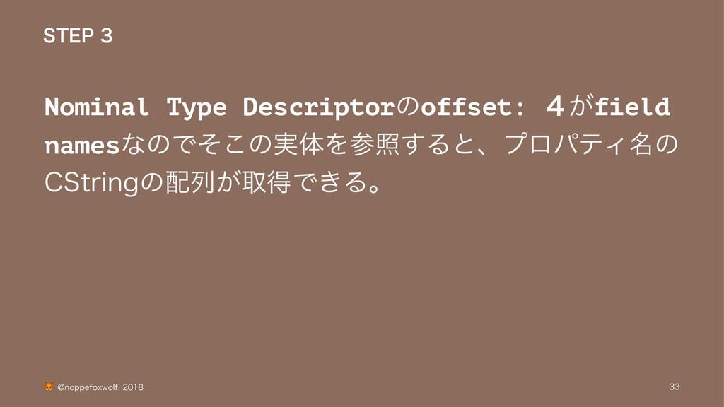 45&1 Nominal Type Descriptorͷoffset: ͕̐field ...