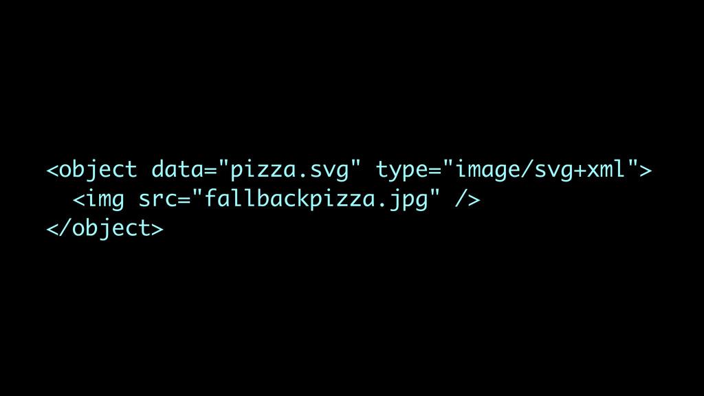 """<object data=""""pizza.svg"""" type=""""image/svg+xml""""> ..."""