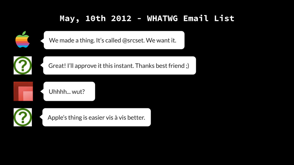 May, 10th 2012 - WHATWG Email List Great! I'll ...