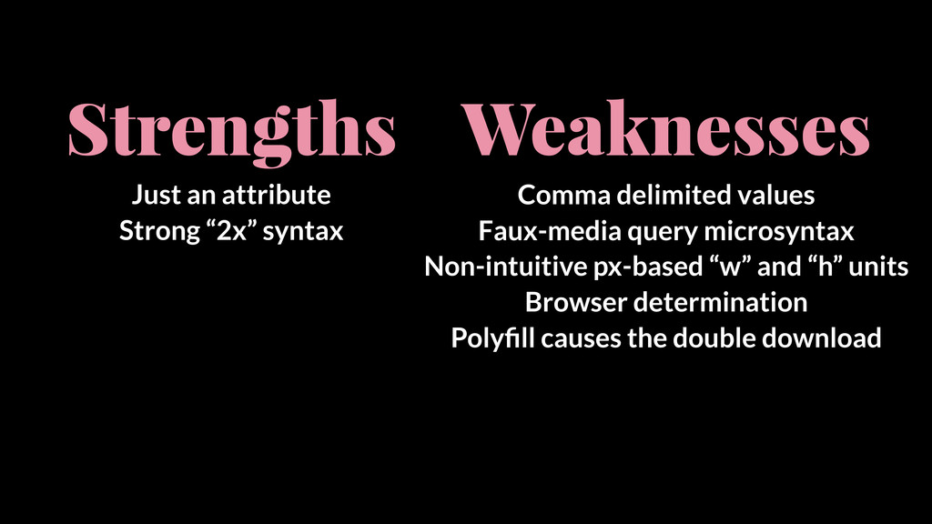 """Strengths Just an attribute Strong """"2x"""" syntax ..."""