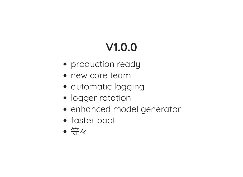 V1.0.0 production ready new core team automatic...