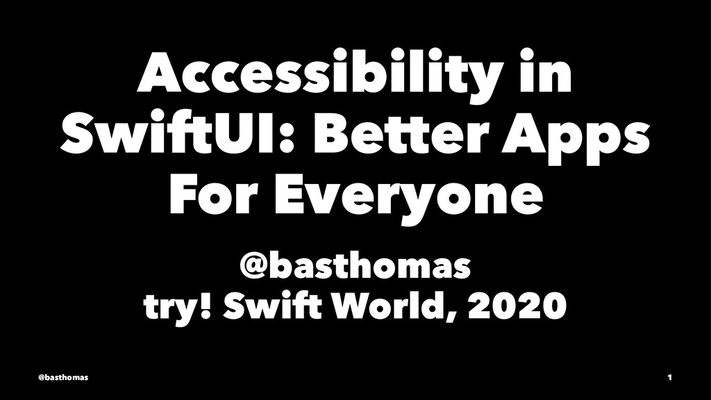 Accessibility in SwiftUI: Better Apps For Every...
