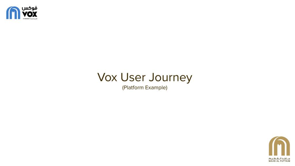 Vox User Journey (Platform Example)