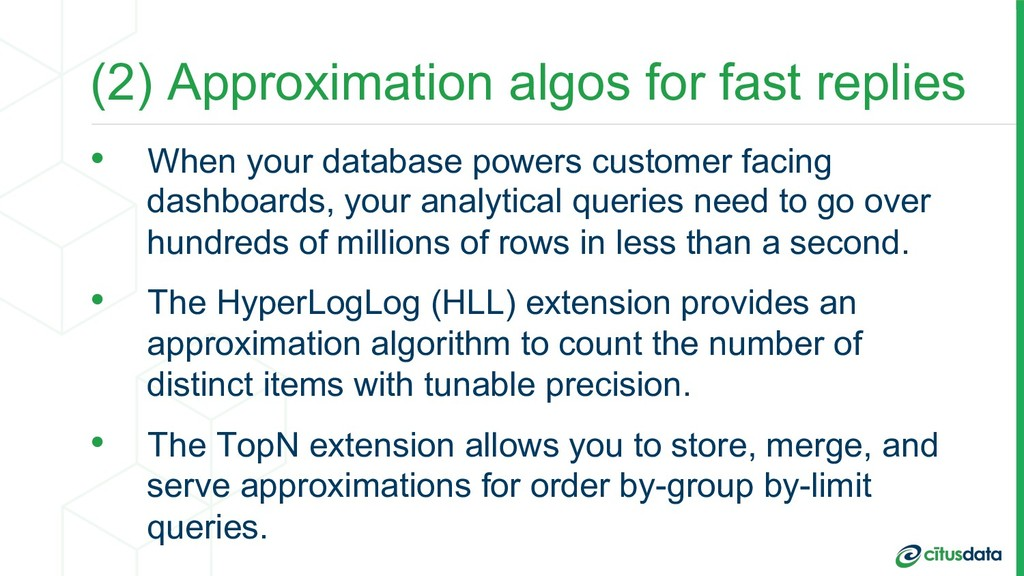 (2) Approximation algos for fast replies •  Whe...