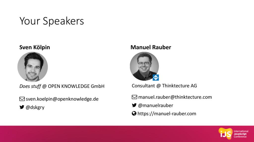 Your Speakers Sven Kölpin Does stuff @ OPEN KNO...