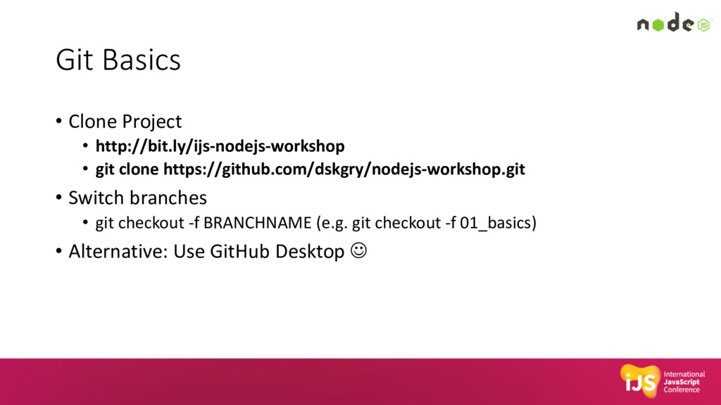 Git Basics • Clone Project • http://bit.ly/ijs-...