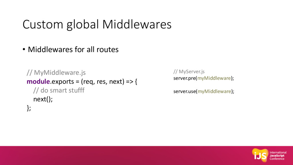 Custom global Middlewares • Middlewares for all...
