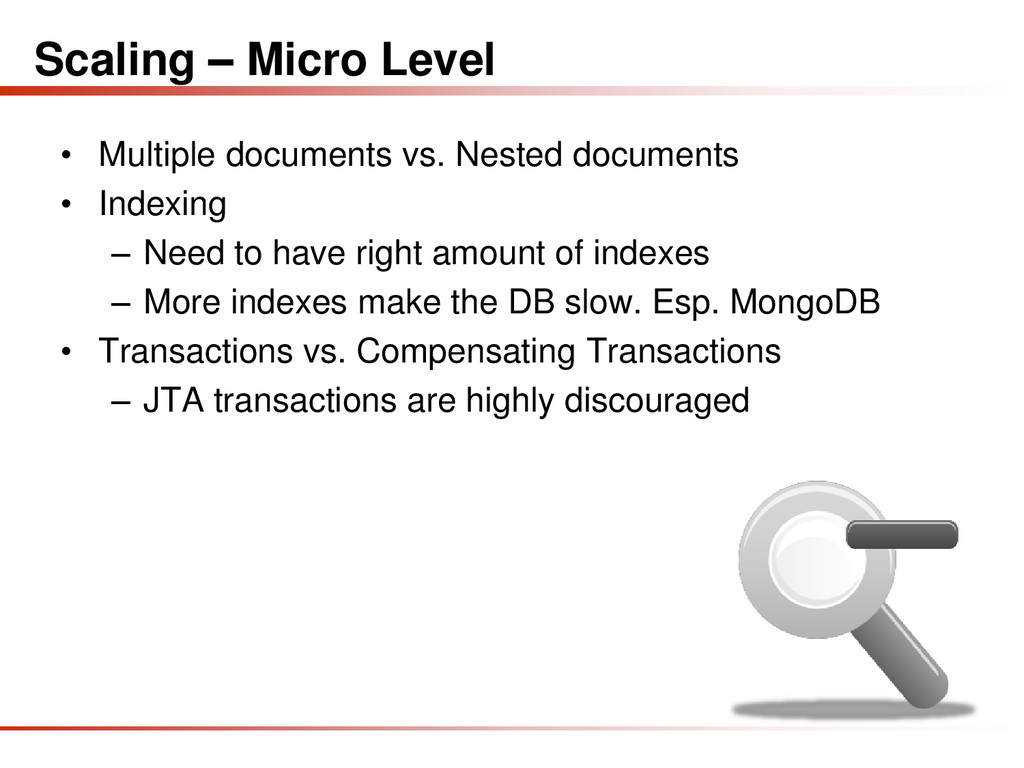 Scaling – Micro Level • Multiple documents vs. ...