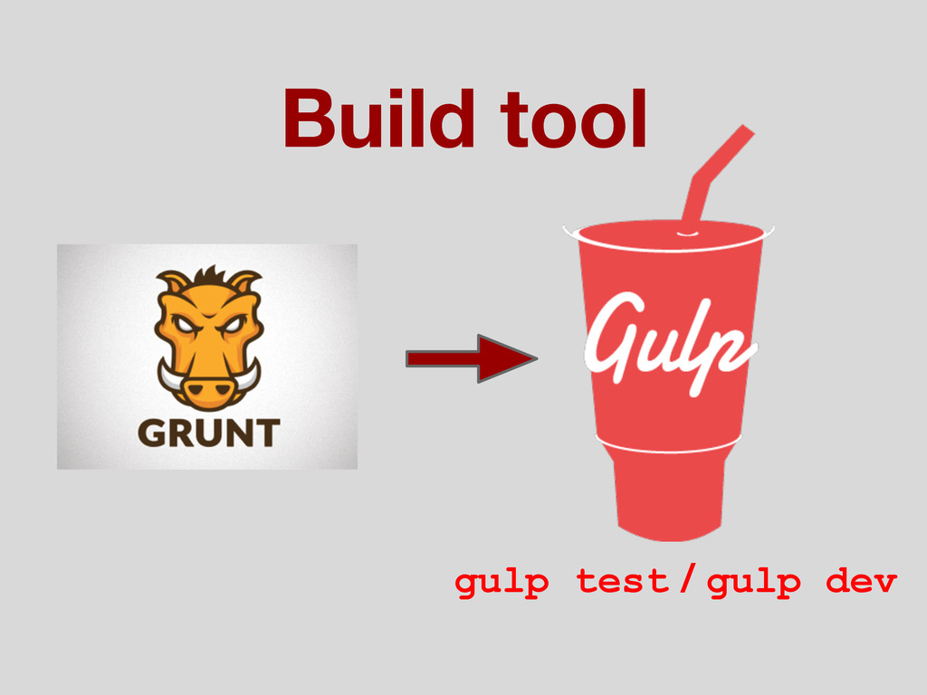 Build tool gulp test / gulp dev