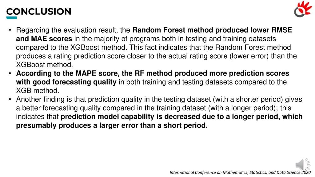 CONCLUSION • Regarding the evaluation result, t...