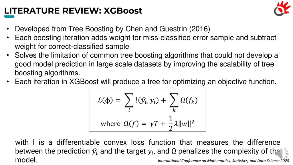 LITERATURE REVIEW: XGBoost • Developed from Tre...