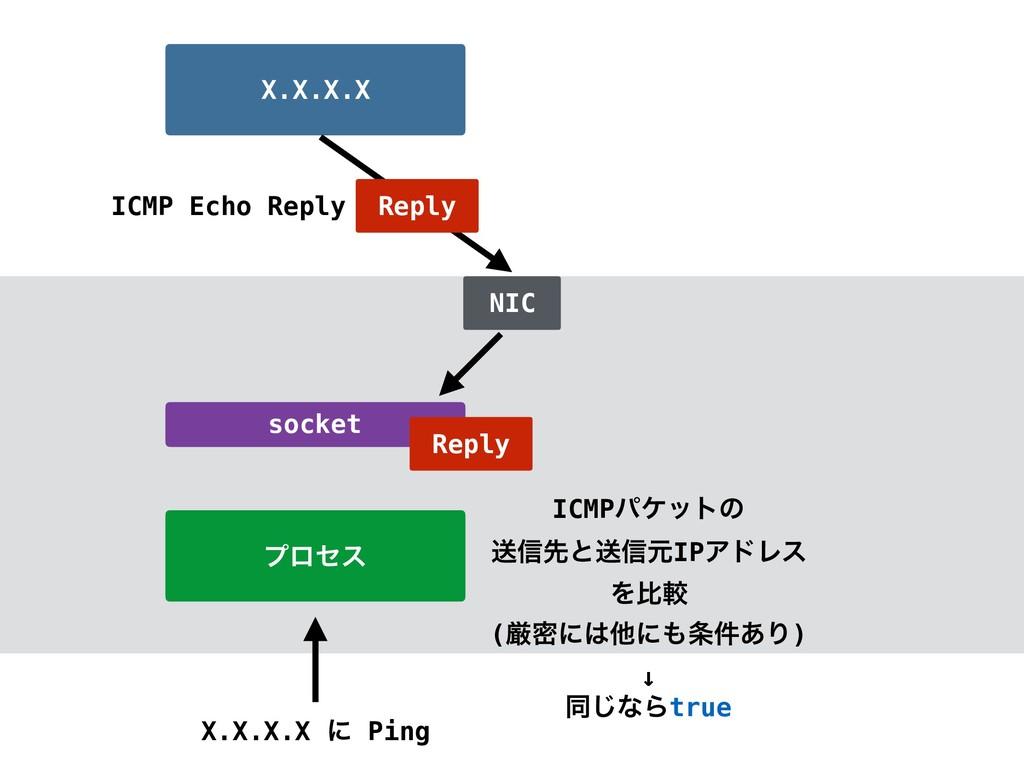ϓϩηε X.X.X.X ʹ Ping X.X.X.X socket NIC Reply Re...