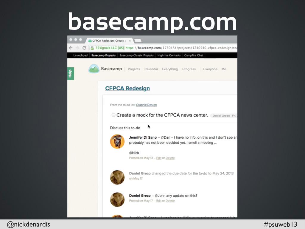 @nickdenardis #psuweb13 basecamp.com