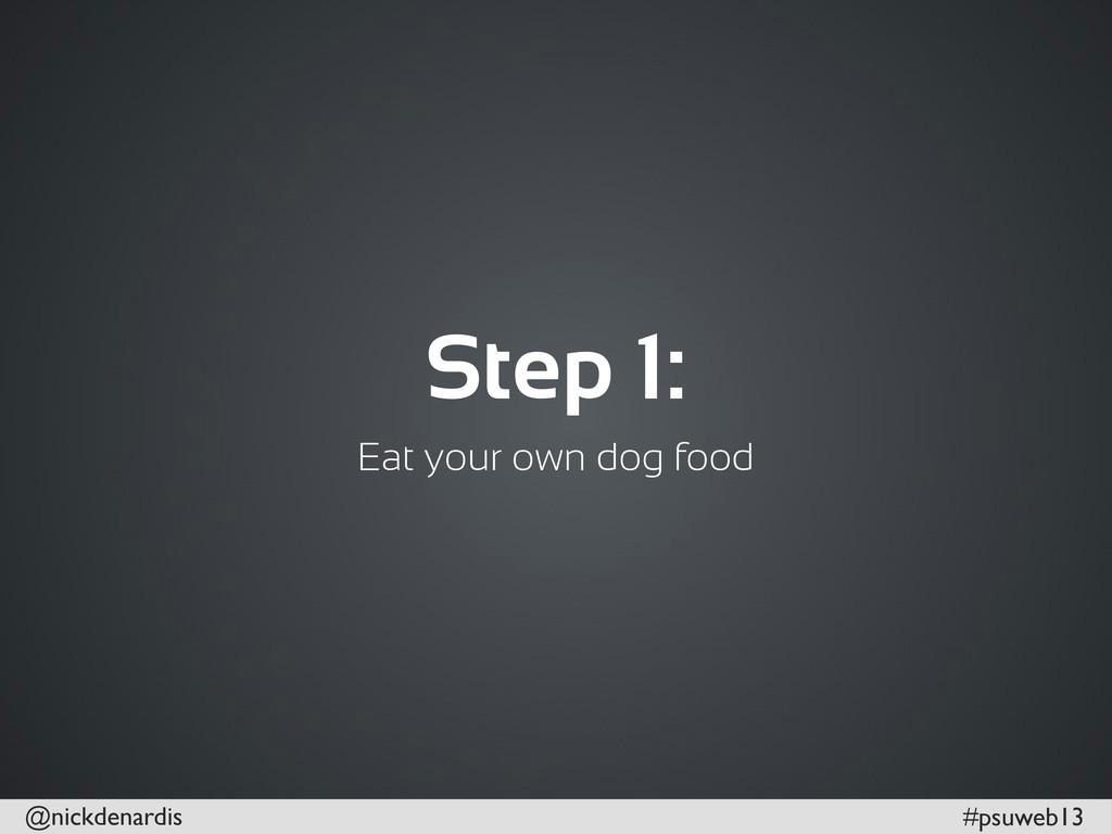 @nickdenardis #psuweb13 Step 1: Eat your own do...
