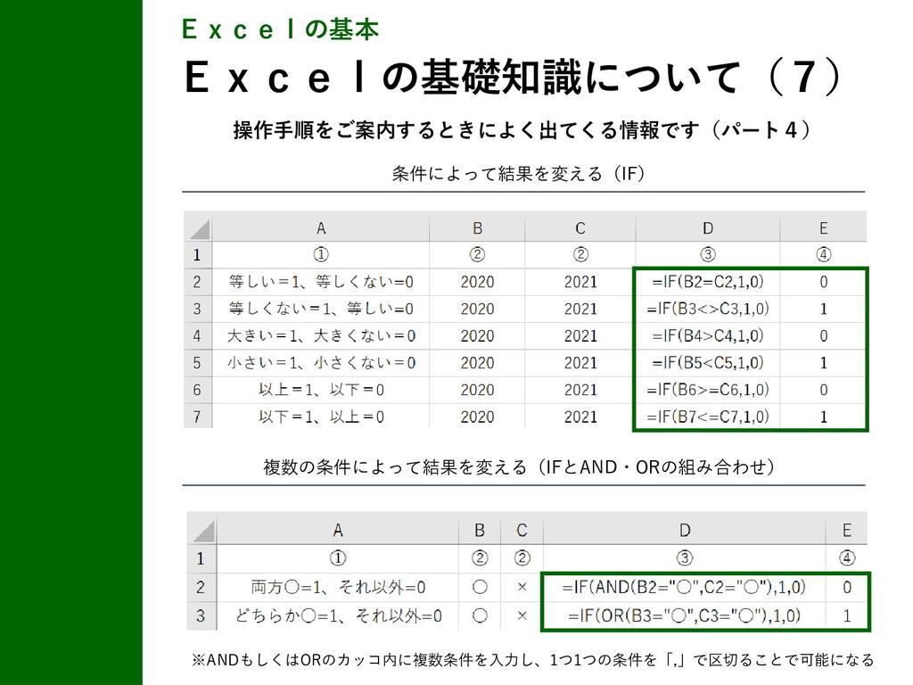 条件によって結果を変える(IF) Excelの基本 Excelの基礎知識について(7) 複数の...