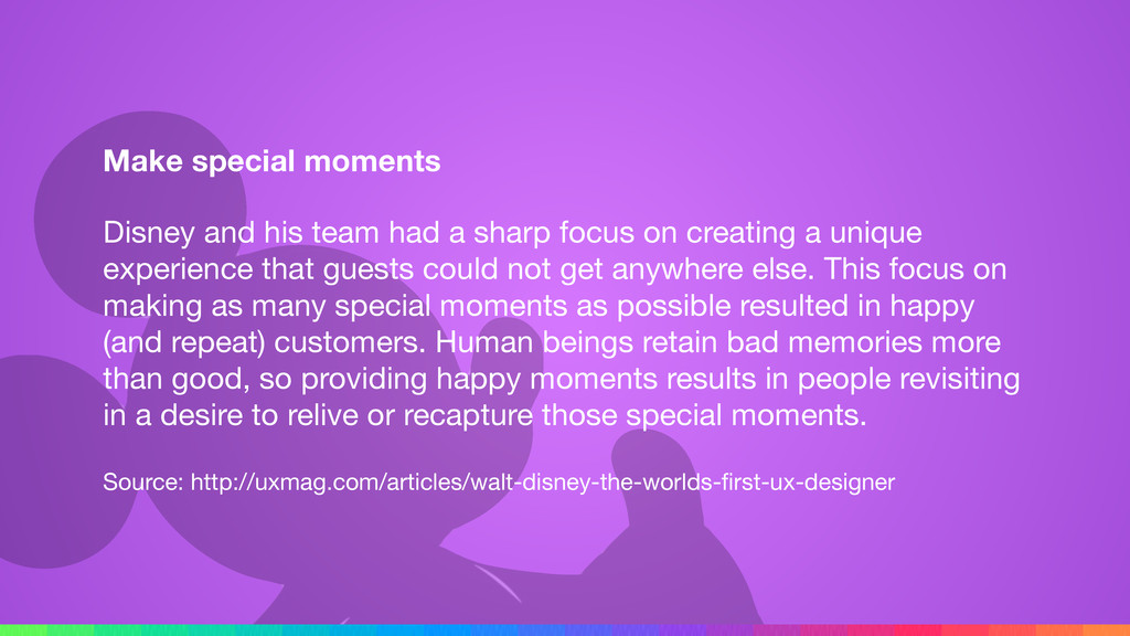 Make special moments Disney and his team had a ...