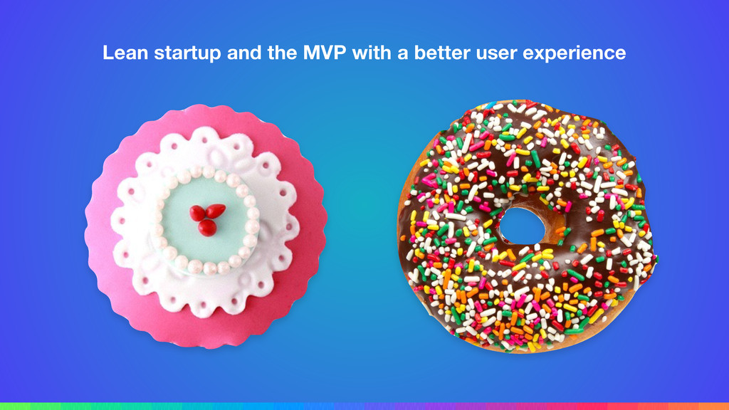 Lean startup and the MVP with a better user exp...