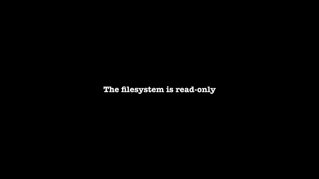 The filesystem is read-only