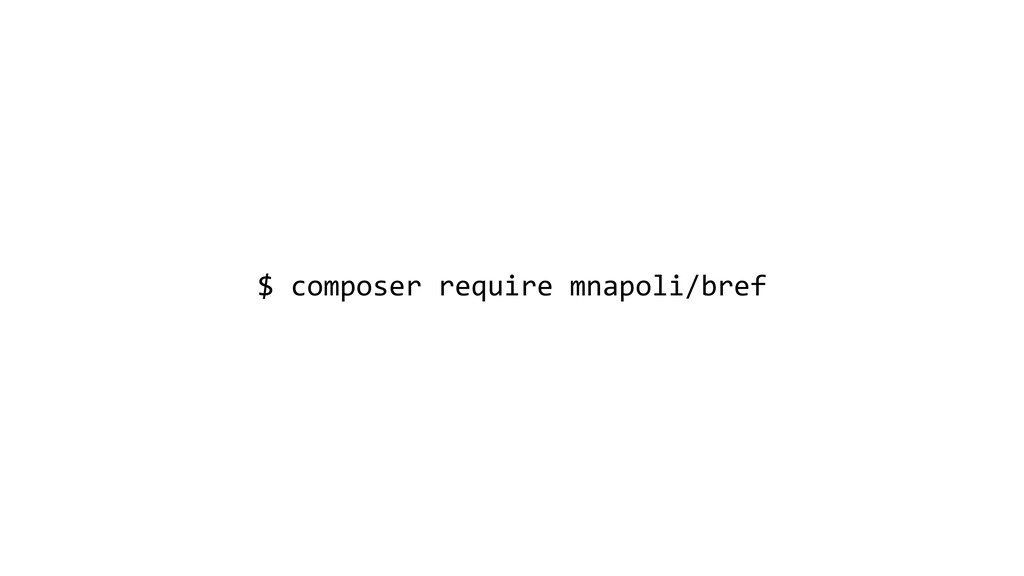 $ composer require mnapoli/bref