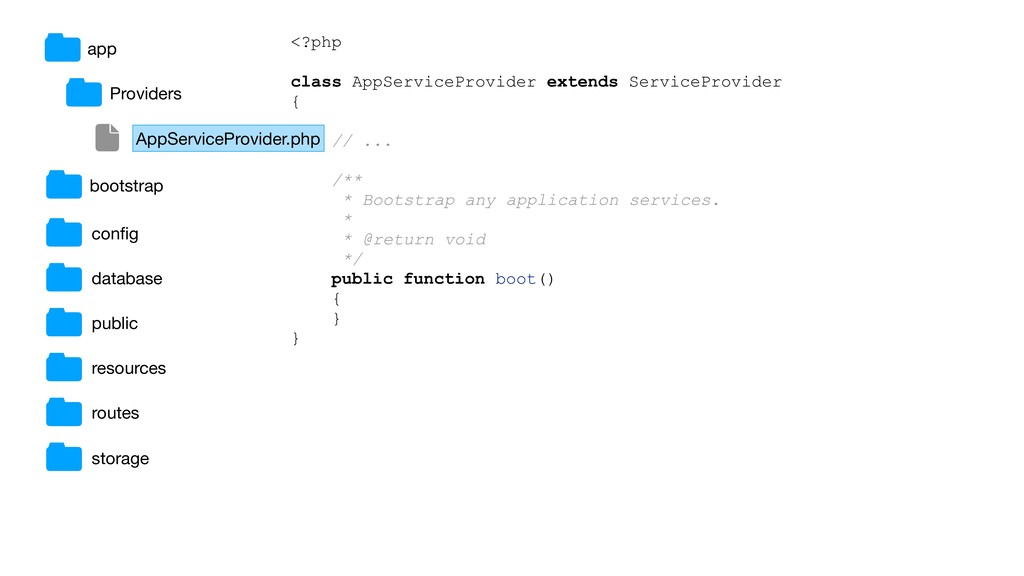 <?php class AppServiceProvider extends ServiceP...