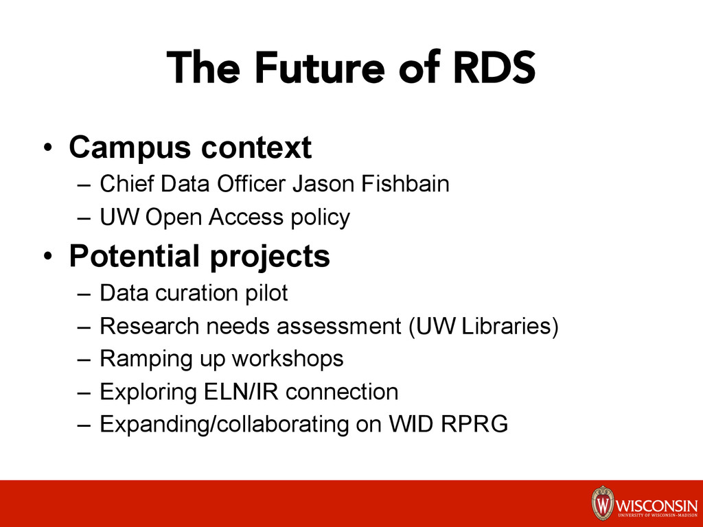 The Future of RDS • Campus context – Chief D...