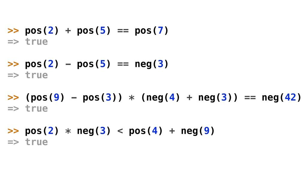 >> pos(2) + pos(5) == pos(7) => true >> pos(2) ...
