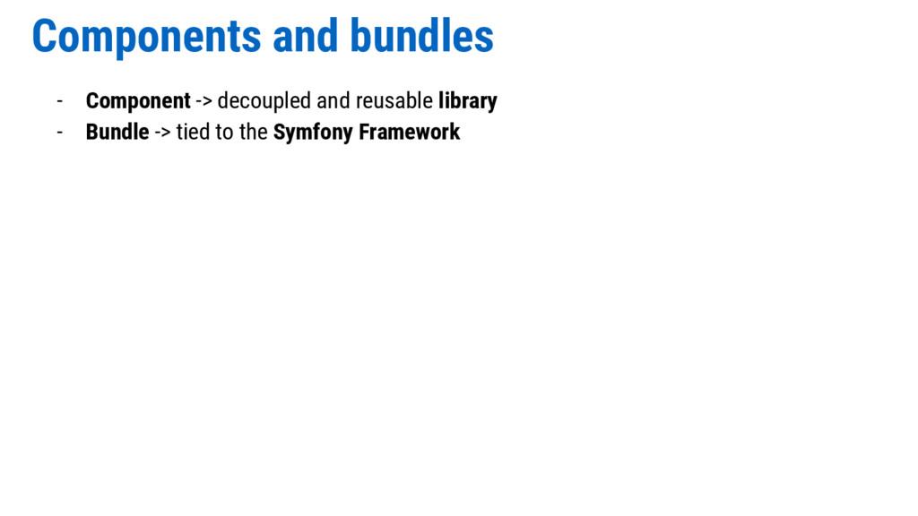 Components and bundles - Component -> decoupled...