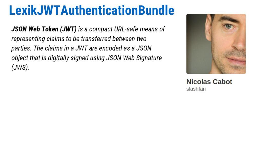 LexikJWTAuthenticationBundle JSON Web Token (JW...