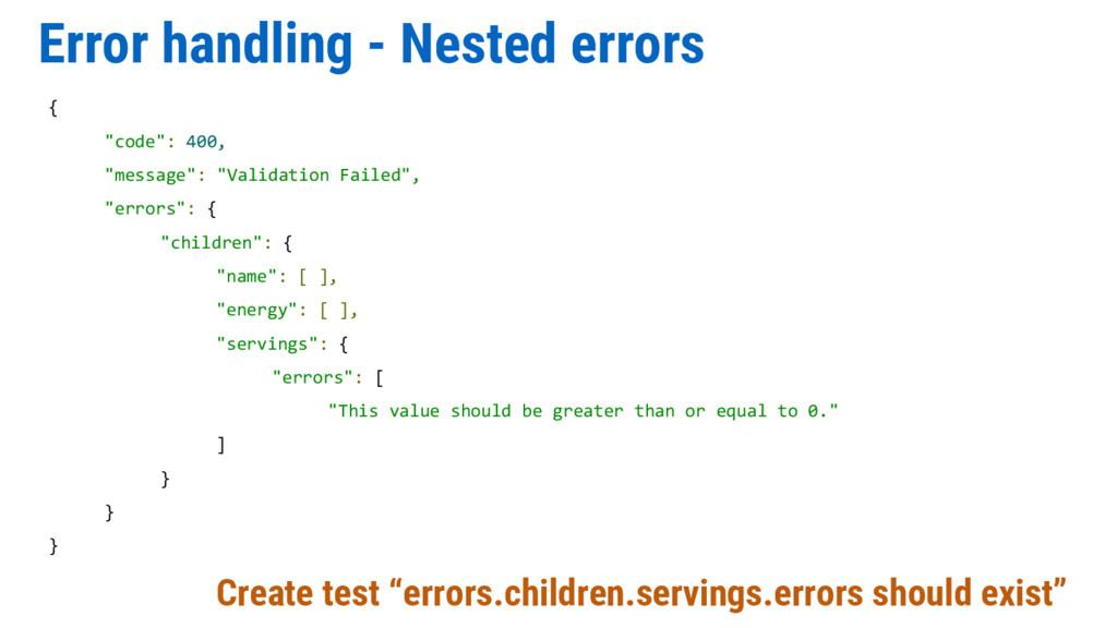 """Error handling - Nested errors Create test """"err..."""